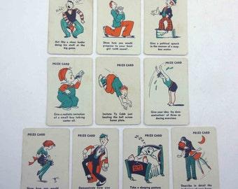 Vintage Miniature Animal Playing Cards Set of 10 Lot B