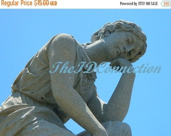 """Valentines Day Sale Digital Photograph, """"Sorrow"""" Galveston Episcopal Cemetery Tomb Stone, Photograph by TheIDConnection"""