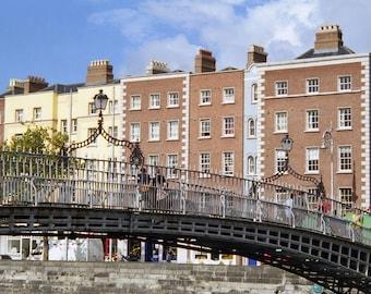 Hapenny Bridge, Dublin Ireland, Liffey River Photograph, Art Print, Bridge Photo, Landscape Photo, Irish Decor, Wall Print, Office Decor