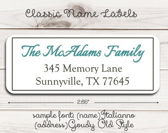 Classic Name Return Address Labels
