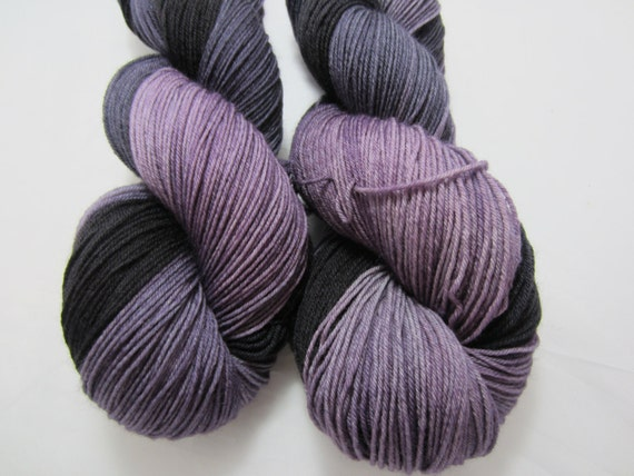 Twilight and Shadows - Dyed to Order - Hand Dyed - Merino Wool Yarn - Fingering Weight