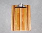 "Standard Size Wood Clipboard (9"" x 13"") - Cherry, Oak, Poplar, Ash, Maple and Walnut"