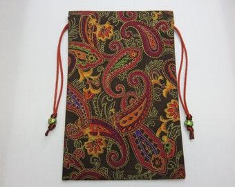 Paisley Sparkle Tarot Pouch, Tarot Bag, Handmade