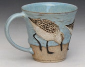 RESERVED FOR PAM--Birds & Beach Mug #2 of 6