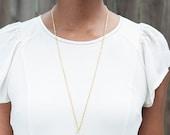 ON SALE Vintage Lucite Tusk Necklace, Tusk Necklace, Vintage Necklace, Layering Necklace