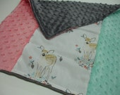 Fawn Baby Security Blanket Lovey 16 x 18 READY TO SHIP