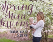 5:00 P.M - MAY 22 SPRING mini session
