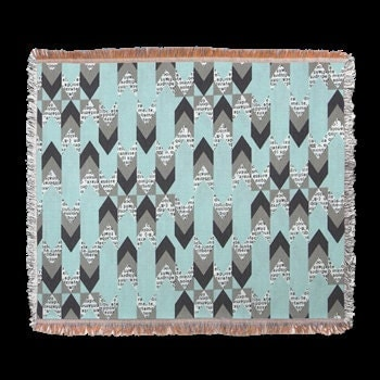 light blue and gray modern geometric throw or tapestry. Black Bedroom Furniture Sets. Home Design Ideas
