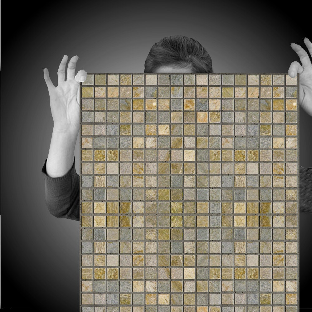slate mosaic easy peel and stick wallpaper 8 39 panel