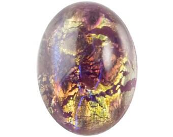 Amethyst Opal Glass Cabochon 14mm x 10mm (2) cab5004E