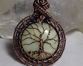 Pale as the moon Tree Of Life amulet, pendant
