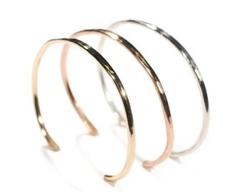 Gold Hammered Cuff | Nature Inspired | Stacking Cuff