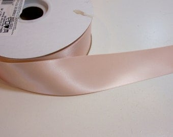 Light Orange Ribbon, Offray Double-Faced Pale Peach Satin Ribbon 1 1/2 inches wide x 50 yards