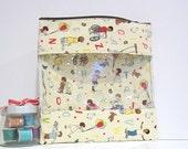 Extra Large Bag w/ window Travel Bag Toy Storage Nursery Diaper Bag - Vintage Children