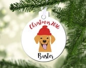 Personalized Pet ornament Ornament, Dog Christmas ornament, Retriever ornament, double-sided ornament, christmas gift, gifts for dog lovers