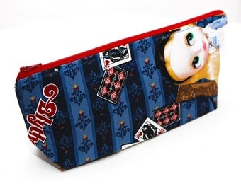 BLYTHE IN WONDERLAND Pencil Case: Stand-up Pouch for School Supplies, Cosmetics, Blythe Accessories and More!