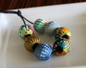 Assorted Fabric Beads (7)