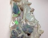 Antique Carved Chinese Precious Opal Statue