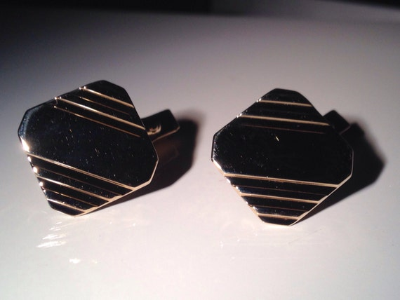 10K Gold Square Cufflinks