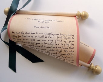 Custom santa letter Etsy