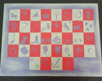 Custom Lenormand Casting Board by Beth Seilonen 12 by 16 inches