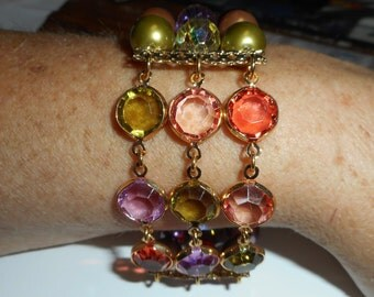 goldtone retired premire designs bracelet stretch called kallidascope beautiful colors