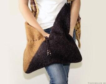 CROCHET PATTERN - Felted Crochet Bag - Instant Download (PDF)