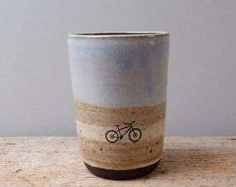 Tall Rustic Mountain Bike Cup