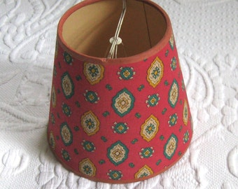 vintage lampshade . small lampshade . french lampshade . retro lampshade