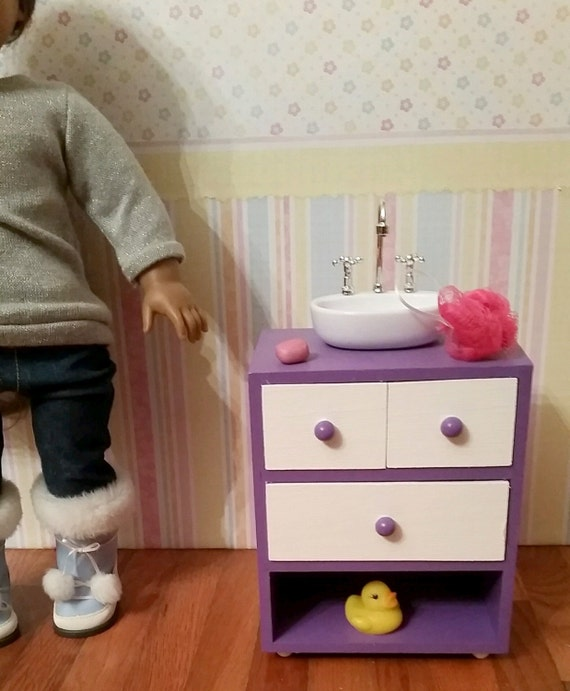 18 inch doll bathroom sink items similar to 18 inch doll bathroom sink vanity 21764