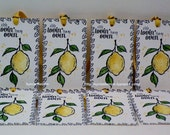 Beautiful Yellow Lemon tags 2...Set of 8...Water color tags...A Little Loving' from my oven...gift with something home made...gift tags