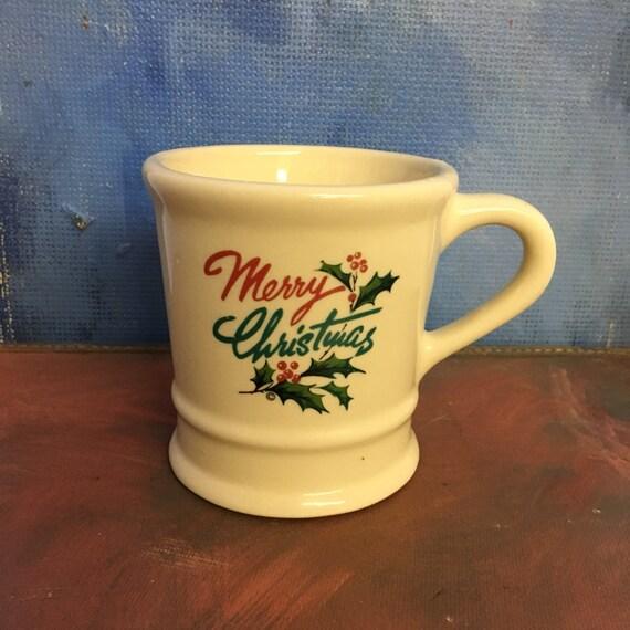 Vintage Holiday Merry Christmas Shaving Mug