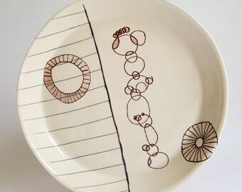 small plate, porcelain plate, luncheon plate, salad plate, dessert plate, plate wall, little plate, ceramic plate, handmade plate, plate