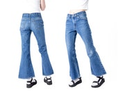 LEVI high WAIST jeans bell bottom Denim waisted vintage Woman flares Small / Medium better stay together