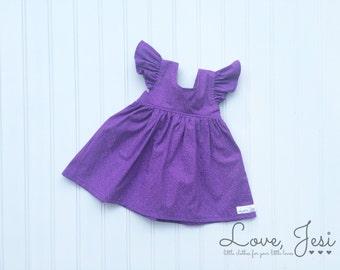 Girls Easter Dress, Girls Purple Easter Dress, Little Girls Dresses, Baby Girls Dress, Toddler Girls Dress, Newborn Baby Dress, First Easter