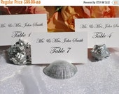 10% off ends Sunday 5pm Beach Wedding + Place Card Holder + Silver SeaShell place card holders- set of 100