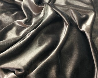 Chocolate Brown Polyester STRETCH VELVET Fabric 1/4 yard remnant