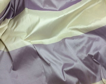 Lavender & White Stripe Silk TAFFETA Fabric - 1 Yard