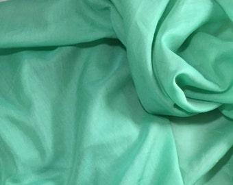 MINT GREEN Silk and Cotton Batiste Fabric - 1 Yard