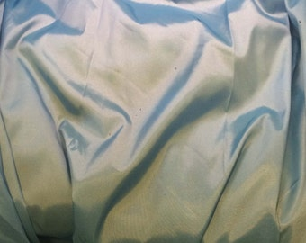 Sky Blue - Faux Silk Taffeta Fabric - 1 Yard