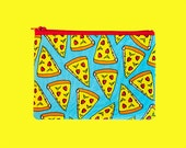 Pizza lover pouch | zipper pouch | make up bag | coin purse | pencil pouch