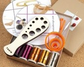 20% OFF - DIY Kit TOPAZ  , Wire crochet  Tutorials and Supplies , wire crochet gift kit , jewelry making hobby kit , DIYer gift