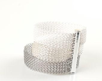 Ombre bracelet, Wire Crochet Bracelet, Multi Strand Bracelet, Wedding Bracelet, layered Bracelet, Bridal Jewelry Lace Bracelet