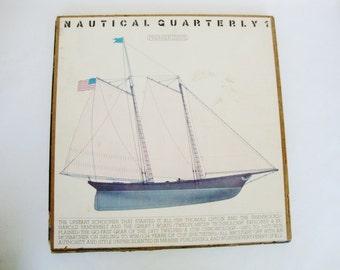 vintage nautical sailing ship magazine in slipcover box case