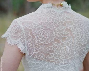 Modest Bridal Gown Topper - Modest Bolero - Modest Lace Bolero - Penelope