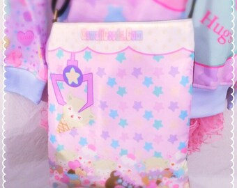 K.G. Magical Crane Machine Shoulder Sling Bag, Kawaii Purse, Pastel Purse