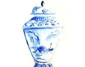 Ginger Jar Print, Blue and White Vase, Fine Art Print, Still Life, Home Decor, Art Decor