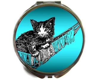 Kitten in Hammock Compact Mirror Pocket Mirror Large