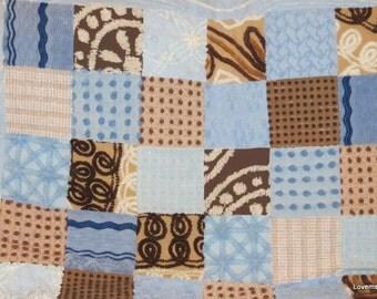 vintage chenille quilt baby blanket, lap quilt, throw