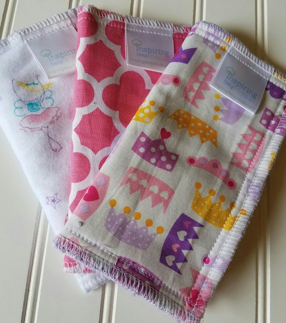 Kids-Wash-Cloth-PInk-Princess-Print-Baby-Wipes-Food-Clean-Up-Art-Time-Wiping-Board-New-Parent-Baby-Accessories-Shower-Baby-Toddler-Gift-Set
